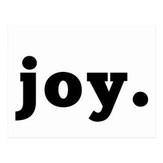 Postal declaración de la alegría el  