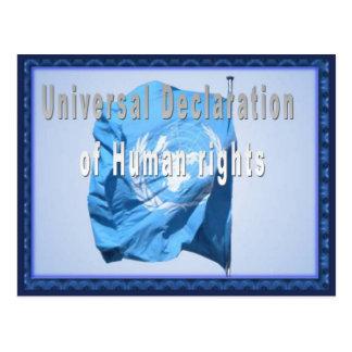 Postal Declaración universal de derechos humanos