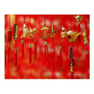 Postal Decoración china del Año Nuevo