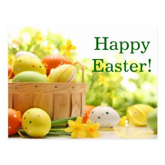 Postal Decoración de Pascua con los huevos