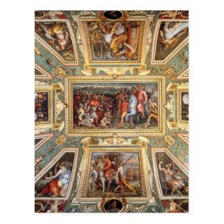 Postal Decoración Palazzo Vecchio Florencia Giorgi del