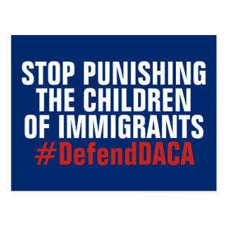 Postal Defienda a los soñadores de DACA no castigan a