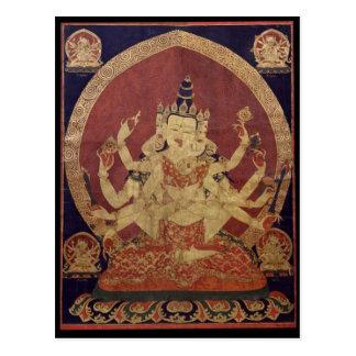 Postal Deidad budista tibetana de Guhyasamaja
