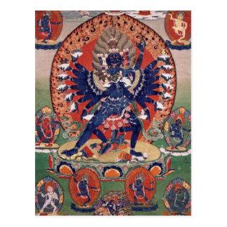 Postal Deidad budista tibetana de Hevajra
