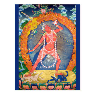 Postal Deidad budista tibetana de Vajrayogini