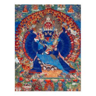Postal Deidad budista tibetana de Yamantaka Vajrabhairava