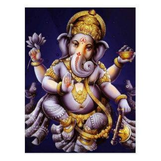 Postal Deidad hindú del elefante asiático de Ganesh