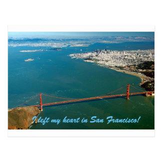 Postal Dejé mi corazón en San Francisco