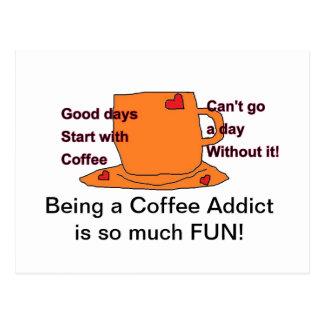 Postal del adicto al café