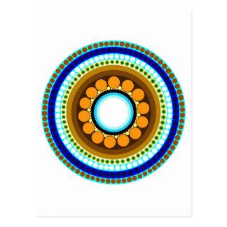 Postal del adorno #214 del círculo