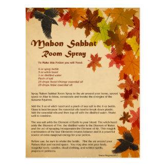 Postal del aerosol del sitio de Mabon