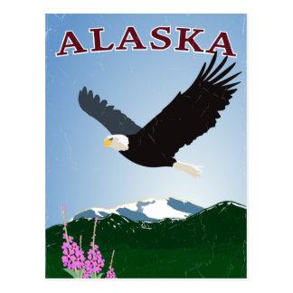 Postal del águila de Alaska