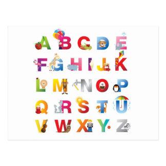 postal del alfabeto