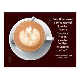 Postal del amante del café