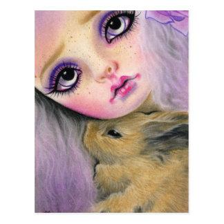 Postal del amor del conejito