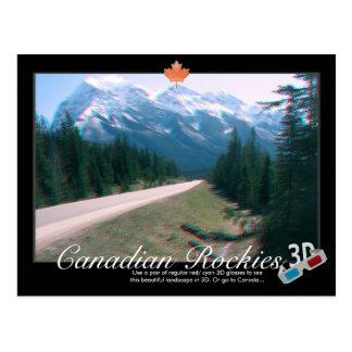 Postal del anáglifo de Canadá 3D de las montañas