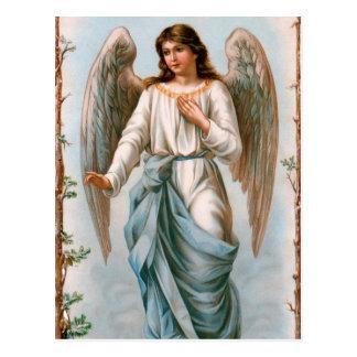 Postal del ángel de guarda del vintage