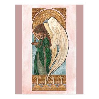 Postal del ángel del navidad