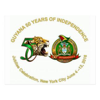 postal del aniversario de Guyana