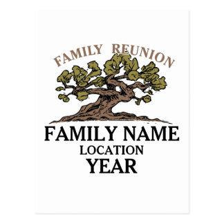 Postal del árbol de la reunión de familia