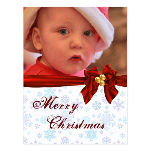 Postal del arco del navidad de la plantilla de la