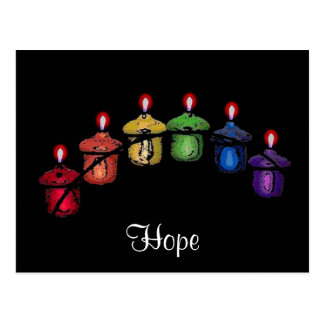 Postal del arco iris de la esperanza