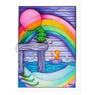 Postal del arco iris de Woobies