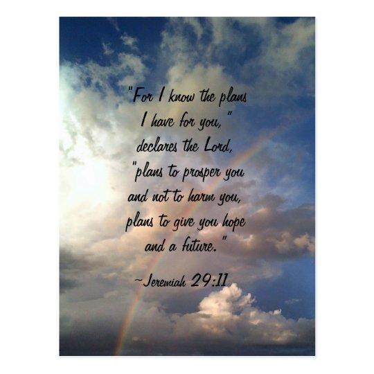Postal del arco iris del 19:11 de Jeremiah