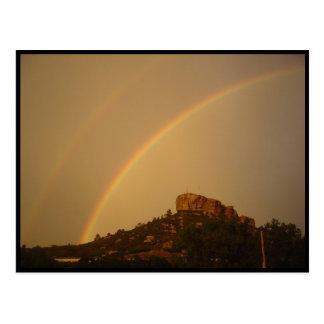 Postal del arco iris del doble de Castle Rock de