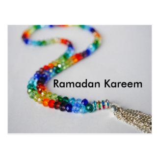 Postal del arco iris del Ramadán Kareem