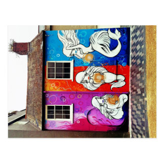 Postal del arte de la calle