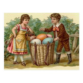 Postal del arte del día de fiesta de Pascua del