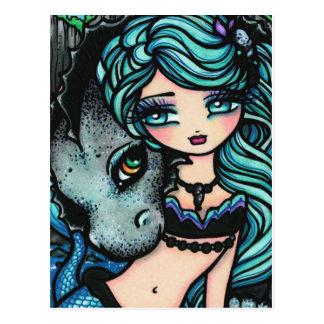 Postal del arte del dragón de la fantasía de la