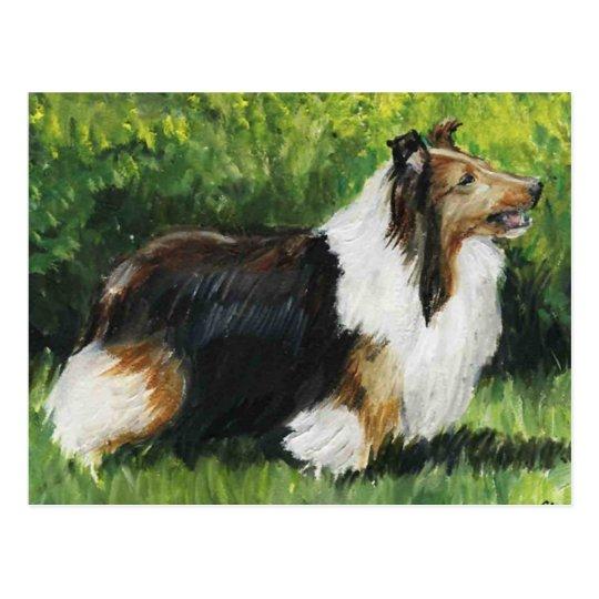 Postal del arte del perro del perro pastor de