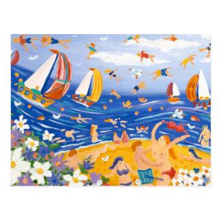 Postal del arte: Invitaciones con playas, playa
