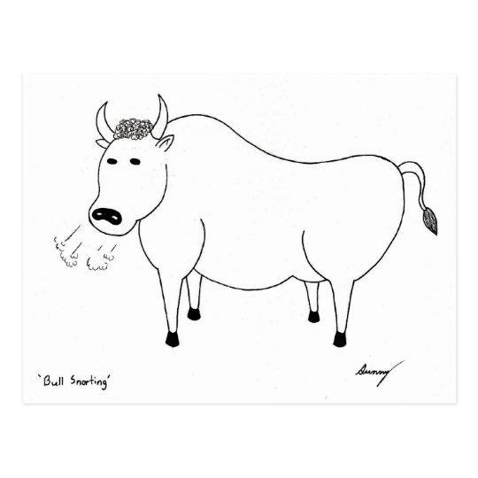 Postal del arte popular de Bull
