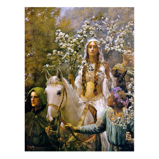 Postal del arte:   Reina Guinevere