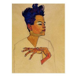 Postal del autorretrato de Egon Schiele