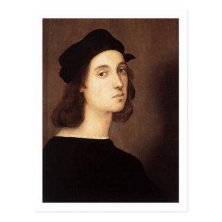 Postal del autorretrato de Raphael