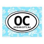 Postal del azul de la ciudad NJ del océano OC