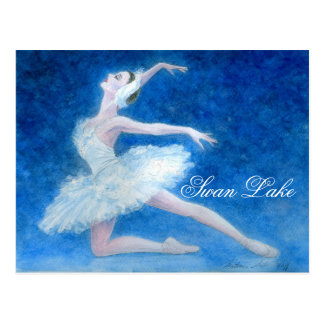 Postal del ballet del lago swan
