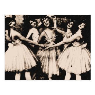 Postal del ballet del vintage