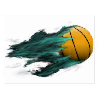 Postal del baloncesto del fuego