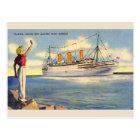 Postal del barco de cruceros de la Florida del
