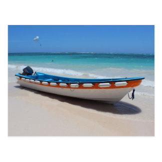 Postal del barco de Punta Cana