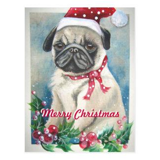 Postal del barro amasado de las Felices Navidad