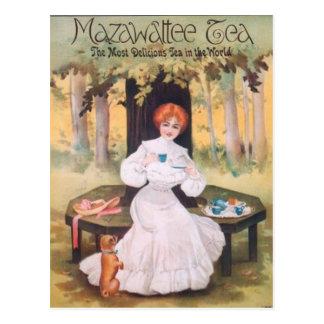 Postal del barro amasado del té de Mazawattee
