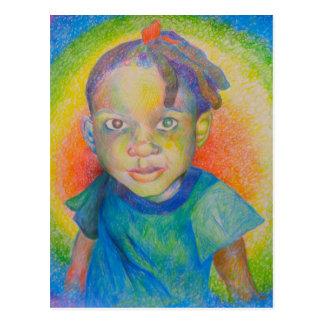Postal del bebé del arco iris