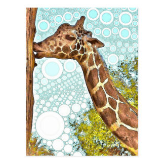 Postal del beso de la jirafa