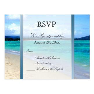 Postal del boda del destino de RSVP